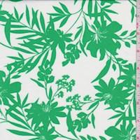 White/Green Floral Nylon Knit