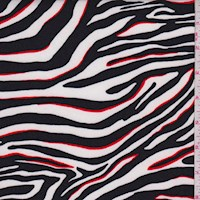 White/Black Zebra Stripe Nylon Knit
