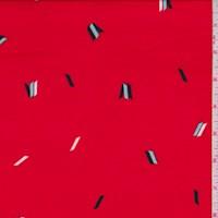 Red/Mint/Black Quadrilateral Print Nylon