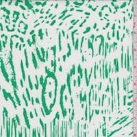 White/Kelly Animal Print Block Nylon Knit