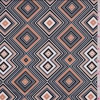 Grey/Beige/Black Diamond Nylon Knit