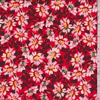 Red Daisy Nylon Knit