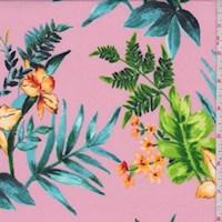 Pink/Aqua/Lime Daffodil ITY Knit