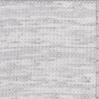 White Marbled Waffle Knit