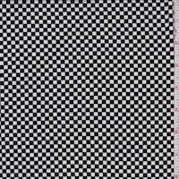 Black/White Mini Check Nylon Knit