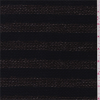*1 3/8 YD PC--Dark Navy/Coffee Stripe Coating