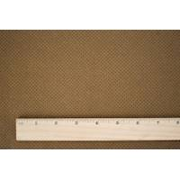 *7/8 YD PC--Brown Micro Cross Printed Boiled Wool Blend Jacketing