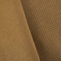 *1 1/2 YD PC--Brown Micro Cross Printed Boiled Wool Blend Jacketing