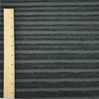 *2 3/8 YD PC--Black Clip Stripe Chiffon