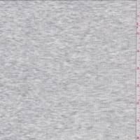 *1 5/8 YD PC--Heather Pearl Grey Mini Rib Knit