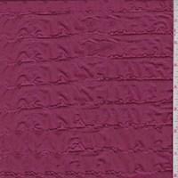Dark Fuchsia Ruffle Knit