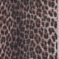 Brown Cheetah 2-Ply Puckered Jersey Knit