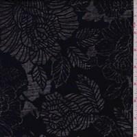 Off Black Floral Burnout Knit