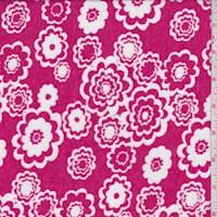 Berry Pink Pop Floral Burnout Knit