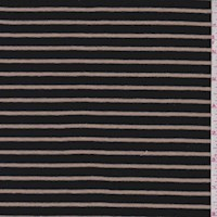 Black/Cashew Stripe Jersey Knit