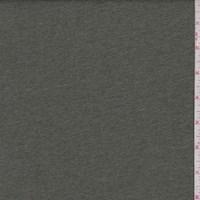 Heather Olive Green Cotton Interlock  Knit