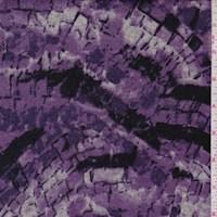 Amethyst/Grey Mosaic Sweater Knit