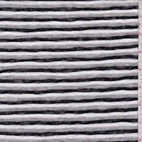White/Black/Grey Stripe Sweater Knit
