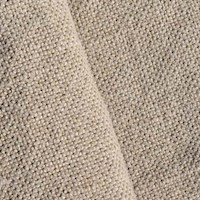 *4 1/2 YD PC -- Natural Beige Textured Linen Woven Home Decorating Fabric