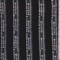 Black Snag Stripe Jersey Knit