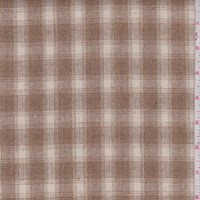 Butterscotch/Ivory Plaid Wool Blend Plaid