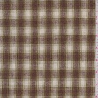 Mocha/Avocado Plaid Wool Blend Plaid