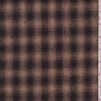 Camel/Black Plaid Wool Blend Plaid
