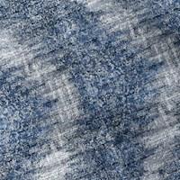 *3 5/8 YD PC -- Blue/White/Multi Textured Baroque Jacquard Decorating Fabric