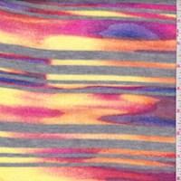 Grey/Yellow/Orange Stripe Sweater Jersey Knit