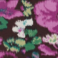 Cherry Brown/Fuchsia Ikat Floral Print Rayon Jersey Knit