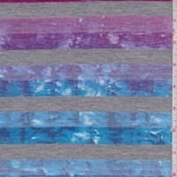 Fuchsia/Ocean Tie Dye Stripe T-Shirt Knit