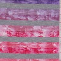Rainbow Tie Dye Stripe T-Shirt Knit