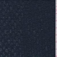 *5 YD PC--Teal Blue/Black Stripe Sweater Knit