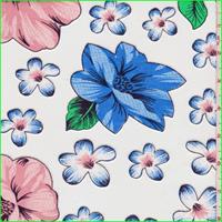 *6 YD PC--Multi Floral Print Sheer Jersey Knit Burnout