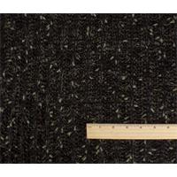 *2 YD PC--Black/Brown/Sage Wool Blend Sweater Rib Knit