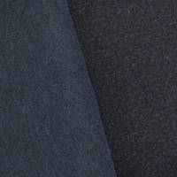 *2 3/4 YD PC--Darkest Navy Blue Textured Wool Blend Brushed Dobby Coating