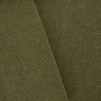 *3 3/8 YD PC--Dark Olive Green Textured Wool Blend Dobby Jacketing