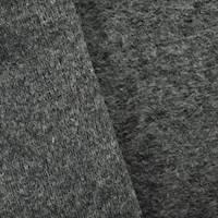 *3/4 YD PC--Stormy Gray Wool Blend Fleece Back Knit
