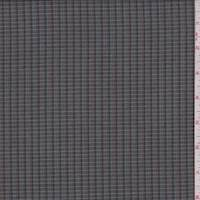 *6 YD PC--Brown/Blue Mini Check Linen