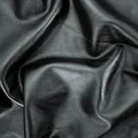 *2 YD PC--Pitch Black Fleece Back Pleather Jacketing