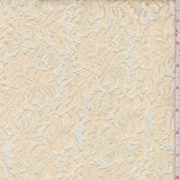 *1 5/8 YD PC--Deep Ivory Floral Lace