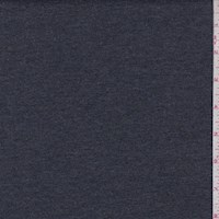 Heather Dark Charcoal Cotton Interlock  Knit