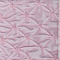 Baby Pink Floral Embroidered Ruche Taffeta