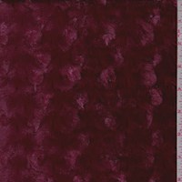 Cranberry Curly Minky Faux Fur Knit