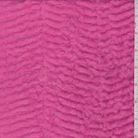 Neon Pink Chevron Minky Faux Fur Knit