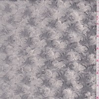 Stormy Grey Curly Minky Faux Fur Knit