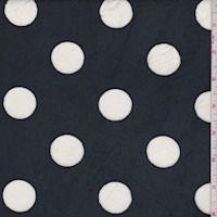 Dark Navy/White Polka Dot Print Minky