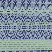 Powder/Royal/Lime Sweater Stripe Printed Double Knit
