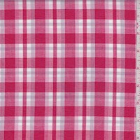 Red/Lavender Plaid Cotton