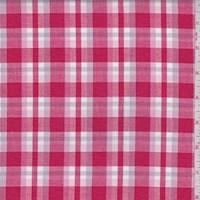 Red/Lavender Plaid Cotton
